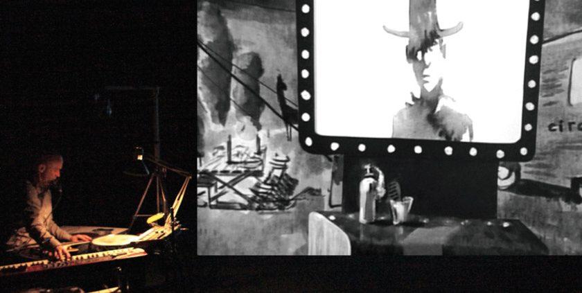 Dark Circus, Compagnie STEREOPTIK, Romain Germond, Jean-Baptiste Maillet, d'Avignon 2016, Monfort Théâtre
